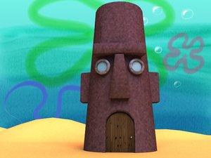 lightwave squidward moai