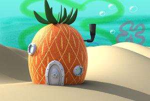 house spongebob 3d model