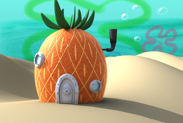 house spongebob 3d model
