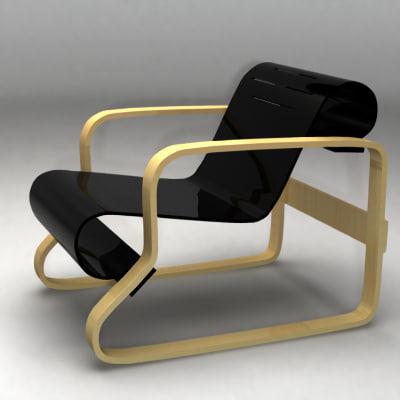 aalto paimio armchair 3d model