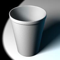 3d styrofoam cup model