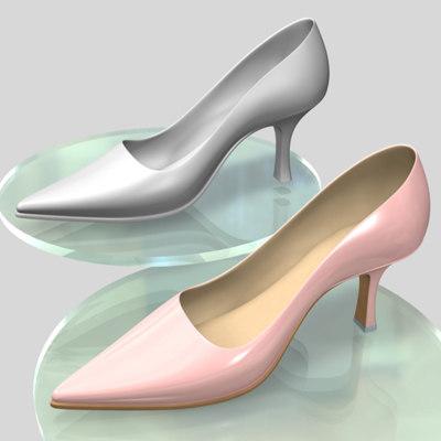 3d shoe woman average model