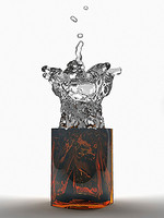 liquid splash vase jar 3d model