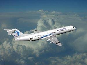 fokker 100 aero mongolia 3d model