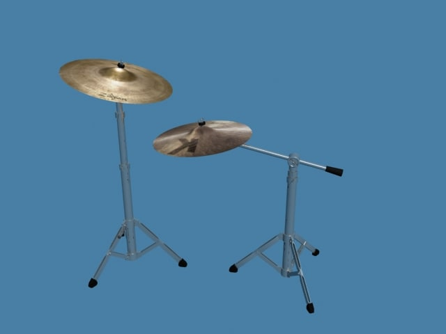 cymbal stands 3d max