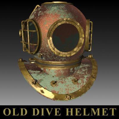 3d model divers helmet