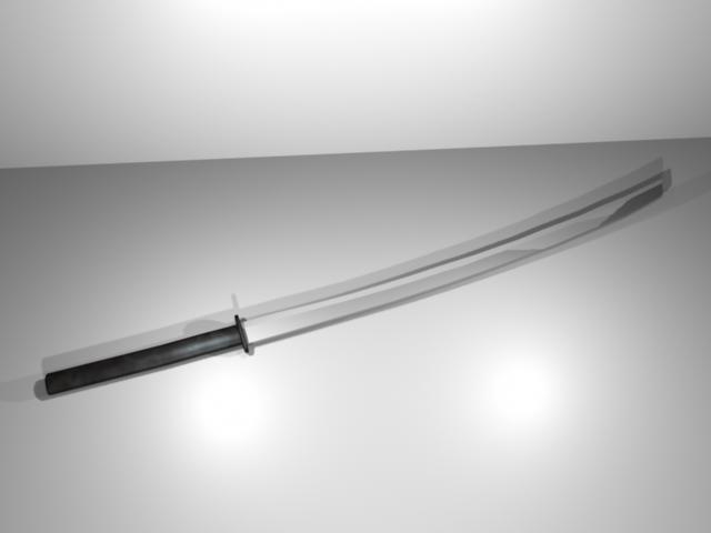 3d model katana blade