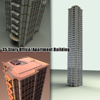 35 story skyscraper building 3d 3ds