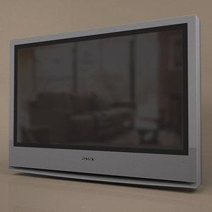 sony bravia television 3d model