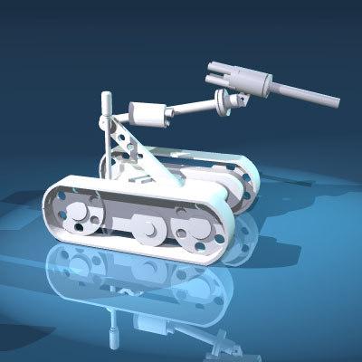 robot bomb 3d model