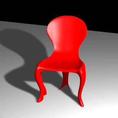 chair classic plastic 3d model
