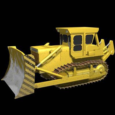 3d bulldozer industrial