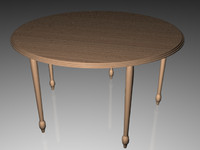 3d table wood model