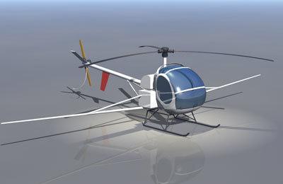 schweizer 300c helicopter 3d obj