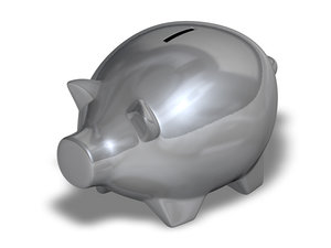 3d metal piggy bank model