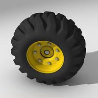 wheel heavy vehicle 3d c4d
