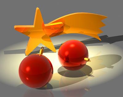 3d 3ds decoration star balls