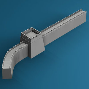 3ds max great wall