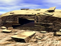 bunker bomb shelter 3d model