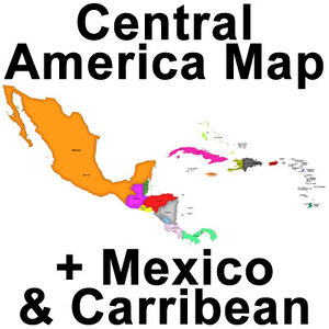 united states central america 3d model
