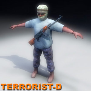 3ds max insurgent terrorist