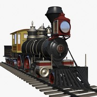 baldwin steam engine 3d model