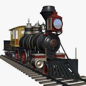 baldwin steam engine 3d model