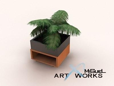 decoration vase plant 3d model