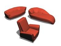 2 sofas & 1 arm-chair