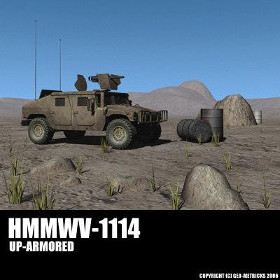 hummer humvee jeep 3d lwo