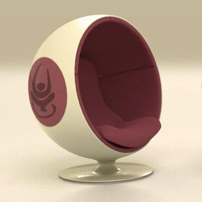 retro ball chair max