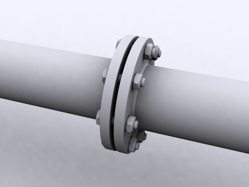 3d model pipe coupling