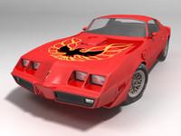 pontiac firebird obj