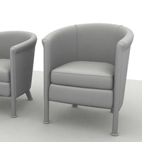 club chair sofa 3d model