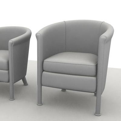club chair sofa 3d model