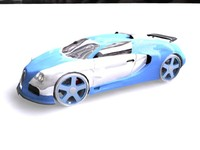 buggati veyron car 3d model