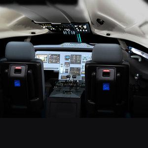 airbus 330 340 cockpit 3d model