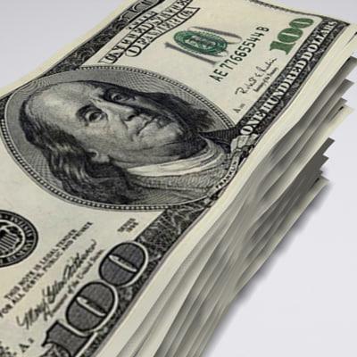 3d stack dollar