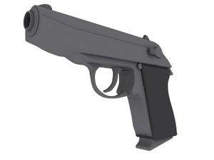 ppk handgun 3d model