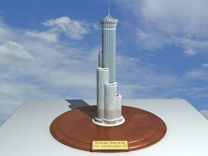 3d ethereal city construction kit