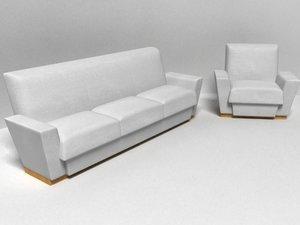 sofa armchair 3d model