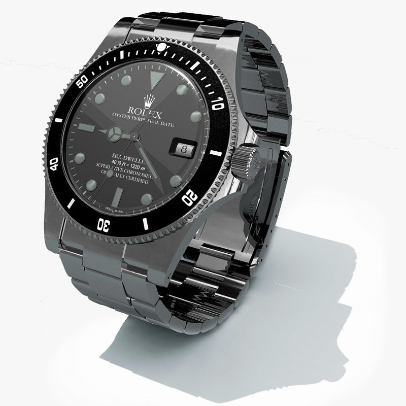 3d obj rolex replica watch