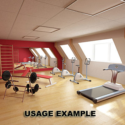 3ds max gym equipment exercise