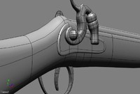 colonial musket 3d model