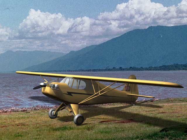 piper j3 cub floats 3ds