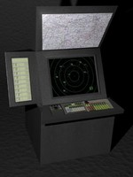 3d model of radar scope maps