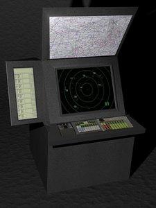3d model of radar scope maps