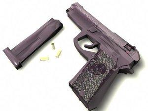 beretta m9 9mm pistol 3d ma