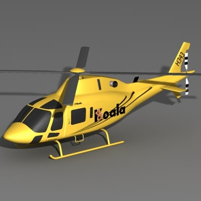 3d agusta 119 helicopter