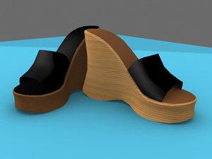 platform shoes female 3d model